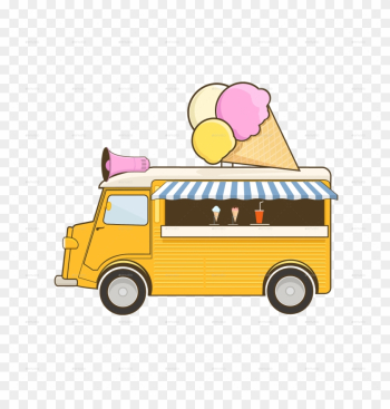 Ice Truck - Food Truck png image transparent background