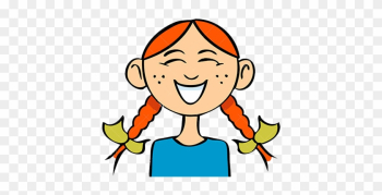 Funny Laughing Girl - Cartoon Picture Of A Girl Laughing png image transparent background