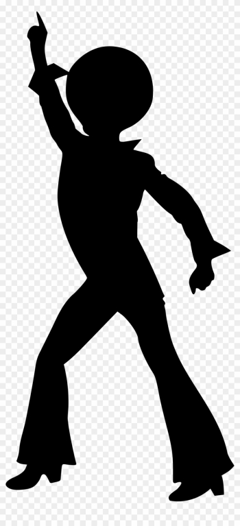 Disco Dancer - Disco Dancing Silhouette png image transparent background