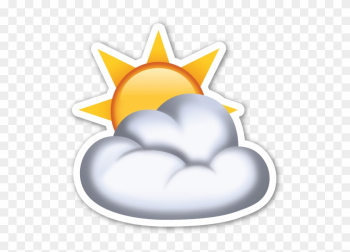 I Chose This Picture Because If It Is Cloudy, The Sun - Sun Cloud Emoji png image transparent background
