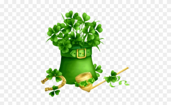 Fresh Four Leaf Clover Background Saint Patrick S Day - Good Morning Wednesday Green png image transparent background