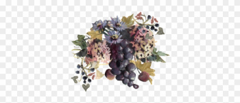 Blue Grapes And Chicory 01 Spring Flowers, Autumn Leaves, - Wine Grapes And Chicory Easy Print Place Cards, Pearl png image transparent background