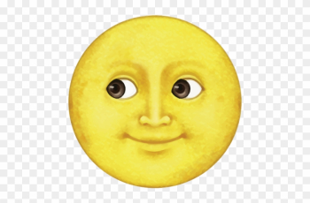 Yellow Moon Emoji - Whatsapp Yellow Moon Emoji png image transparent background