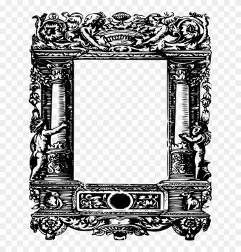 Free Ornate Curly Column Frame - Frame Redondo Redonda Png png image transparent background