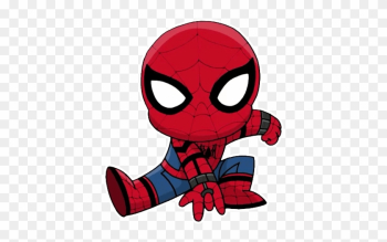 Чиби Telegram Sticker - Spiderman Homecoming Coloring Pages Chibi png image transparent background
