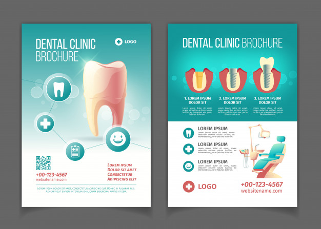 Dental Clinic Advertising Brochure Poster Cartoon Pages Template