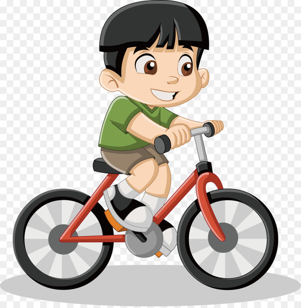 Royalty-free Cartoon Drawing Illustration - Little boy riding a bike vector  png image transparent background