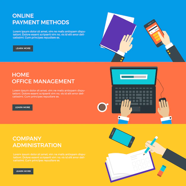 Flat Business Banner Templates Nohat