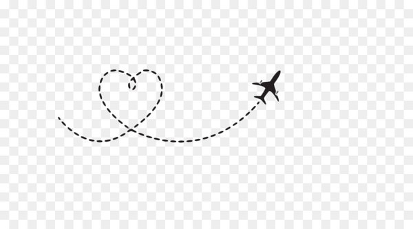 Airplane Flight Aircraft Clip art - Heart-shaped airplane route  png image transparent background