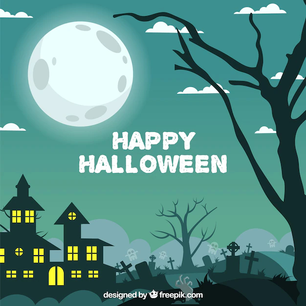 Happy halloween landscape background , Nohat