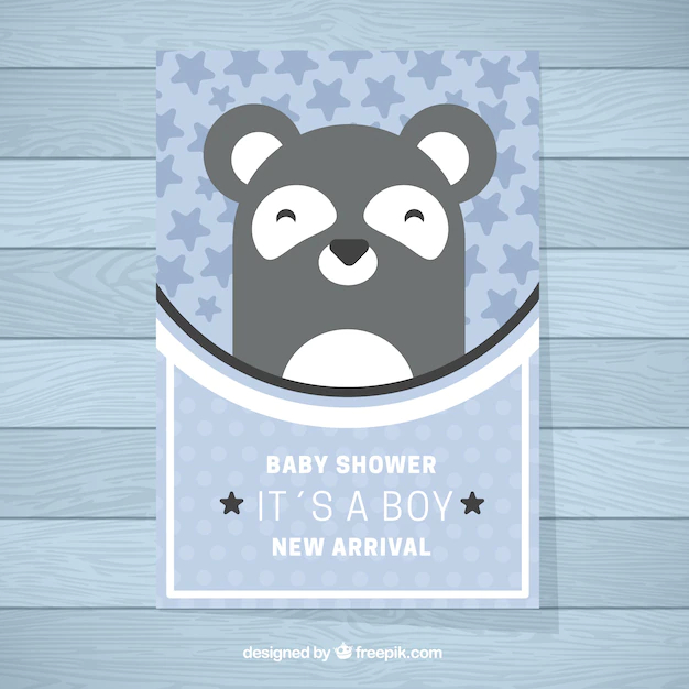 Cute Baby Shower Invitation Template Nohat