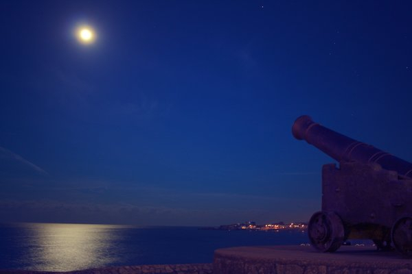 night cannon castle moon png image transparent background