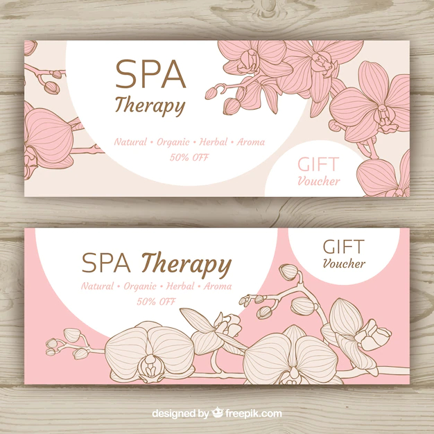 Spa Banners Collection With Different Treatments Nohat