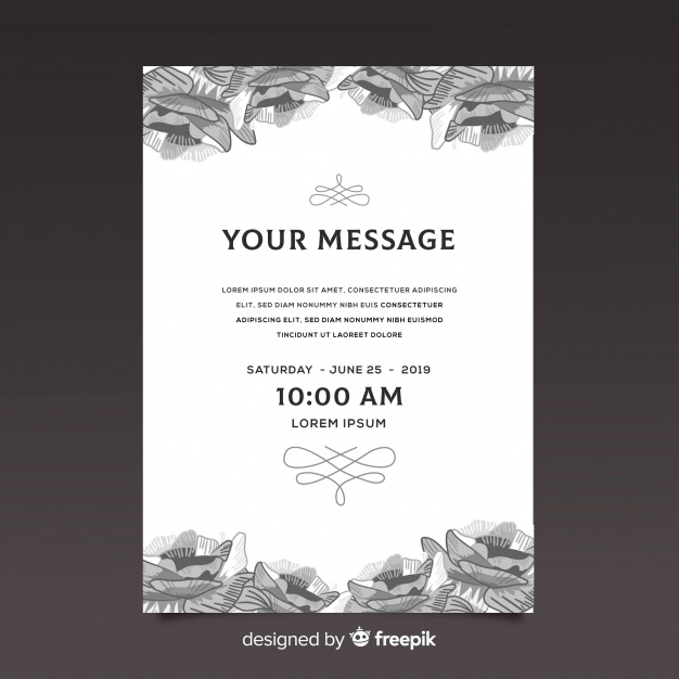 Funeral Card Template Nohat