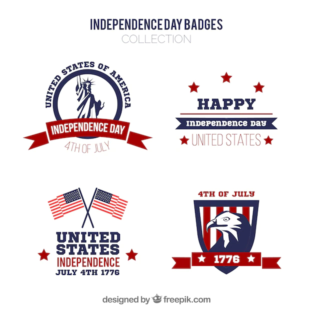 Usa independence day badge collection - Nohat