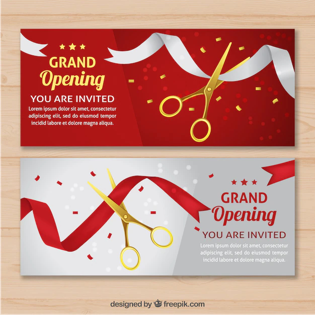 Elegant Opening Invitation With Realistic Style Nohat