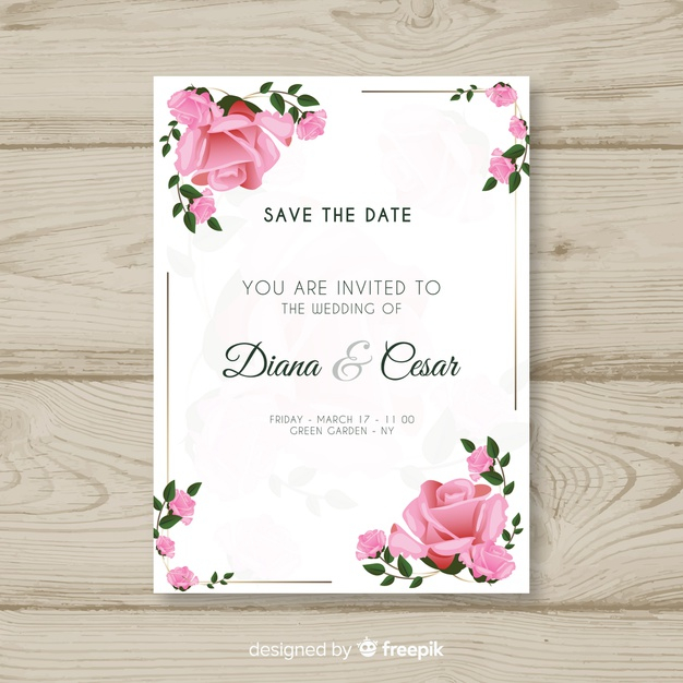 Wedding Card Template Nohat