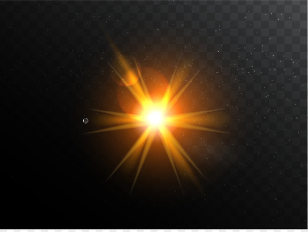 Yellow light effect - Flare PNG png image transparent background