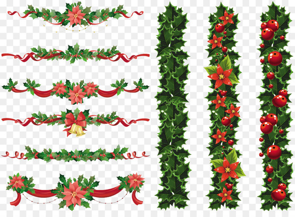 Christmas Graphics Transparent.Christmas Garland Wreath Clip Art Christmas Elements Png