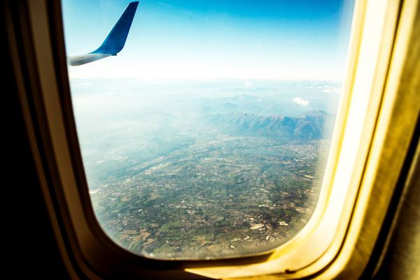 Beige Plane Window View Nohat
