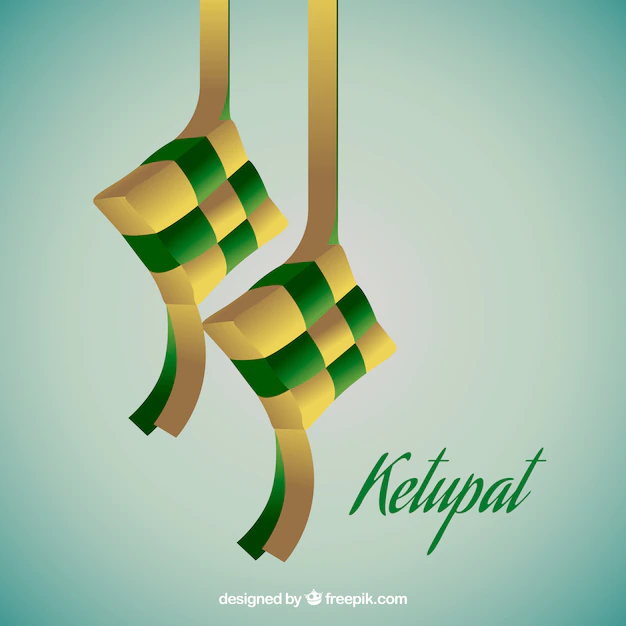 Realistic traditional ketupat composition - Nohat