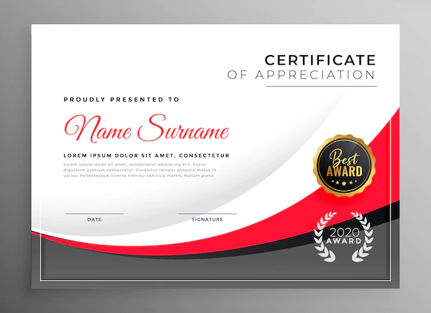 Best Business Card Designs 2020.Professional Success Certificate Design Template Nohat