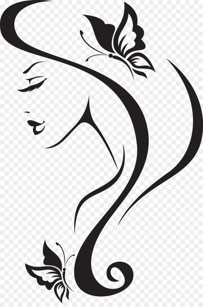 Beauty Parlour Wall decal Barbershop Hairdresser - invisible woman  png image transparent background