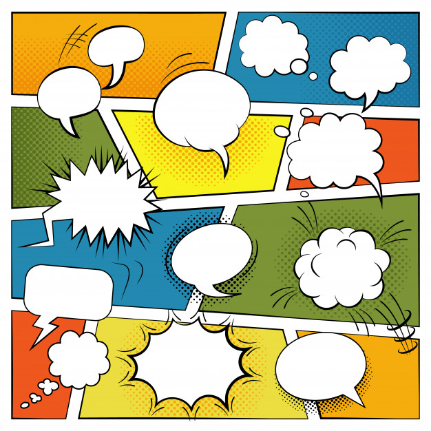 Blank comic speech and sound effects bubbles set - Nohat