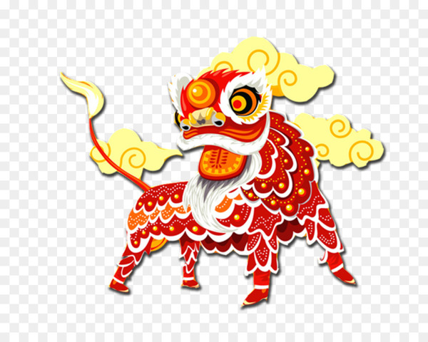 Lion dance Vector graphics Image Chinese New Year - aslan design element  png image transparent background