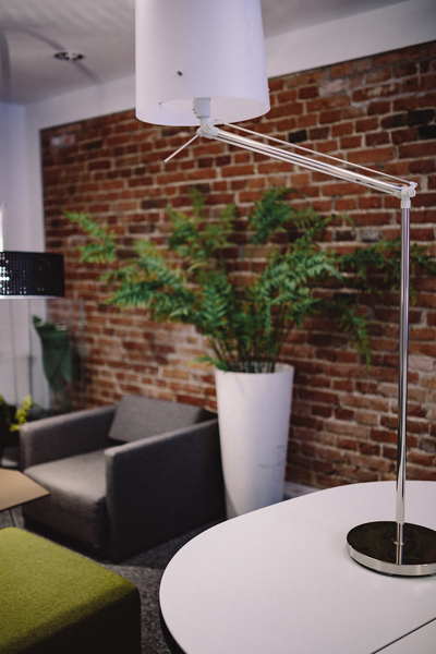 Modern office Interior with old vintage brick Wall - Nohat