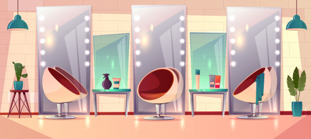 Background With Female Hairdressing Salon Nohat
