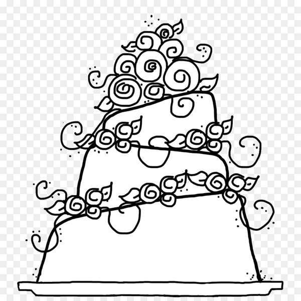 Wedding cake Birthday cake Coloring book - hand drawn cake  png image transparent background