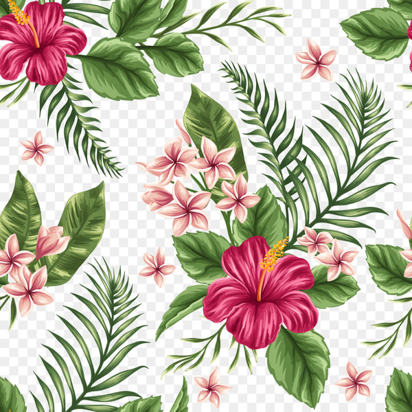 Flower Tropics Watercolor painting - Hand-painted flowers background  png image transparent background