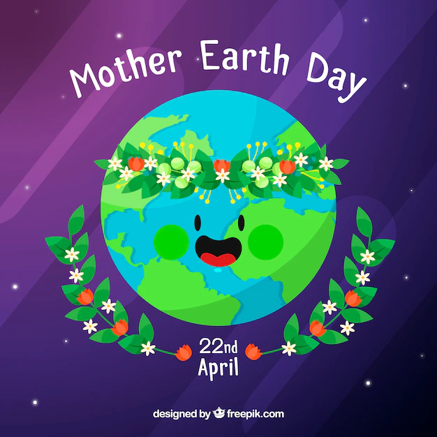 Cute Background For The World Earth Day In Flat Design Nohat