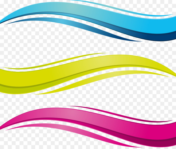 Euclidean vector Wave vector - Colored cartoon vector water waves  png image transparent background