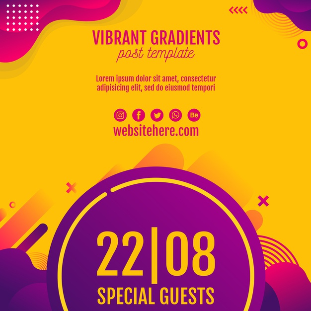 Music Festival Yellow Background Template Free Psd Nohat