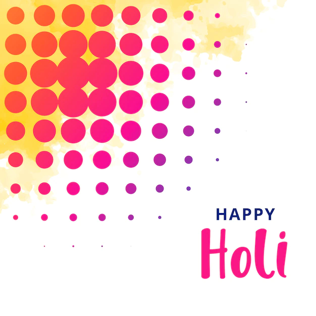 Happy Holi Greeting Design Background Nohat