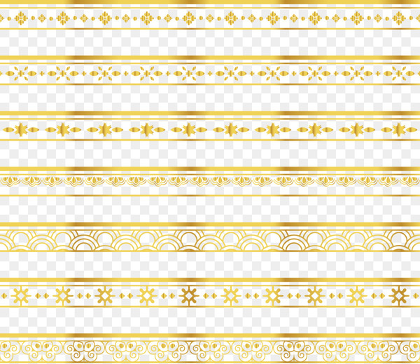 Yellow Angle Pattern - Delicate gold lace border  png image transparent background