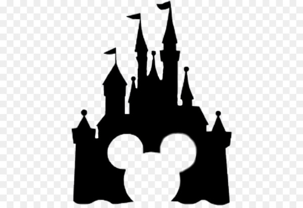 Disney castle sleeping beauty silhouette. Mickey mouse minnie the