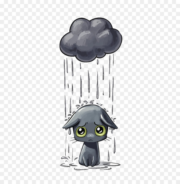 Cat Kitten Drawing Dog Illustration - Vector sad cat - Nohat