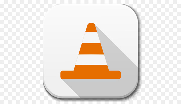 triangle cone orange - Apps Vlc  png image transparent background