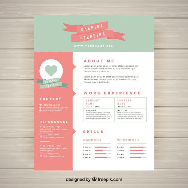 Cute resume template - Nohat