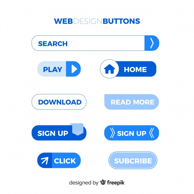 Modern Web Design Button Collection With Flat Design Nohat