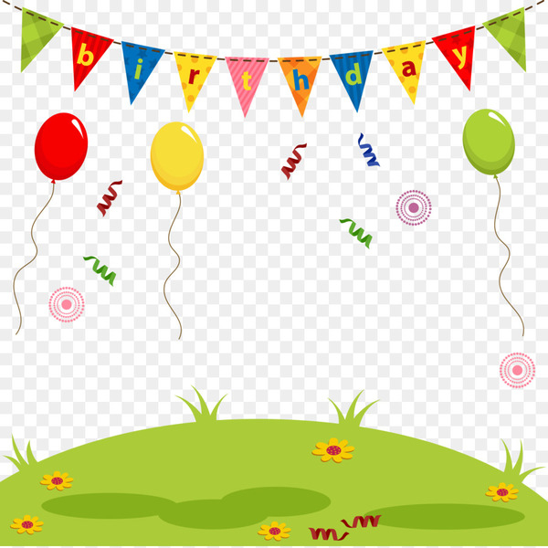 Birthday Cuteness Drawing Illustration - Happy Birthday decorative background vector  png image transparent background