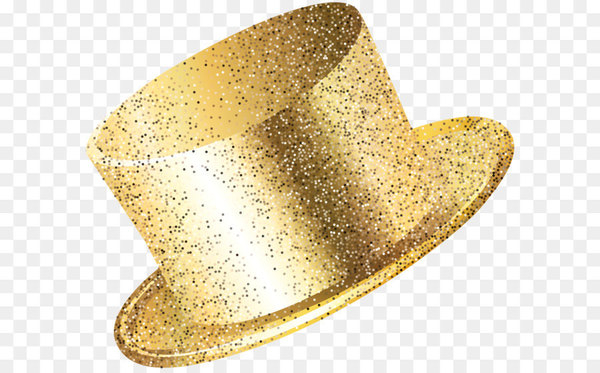New Year Party Hat Gold PNG Clip Art Image  png image transparent background