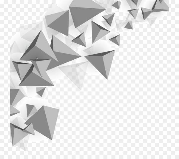 Triangle Polygon mesh - Vector triangle background  png image transparent background