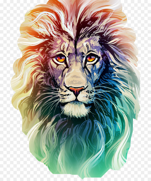 Lion Drawing: Colored Pencil Drawing: Colored Pencil Art - lion  png image transparent background