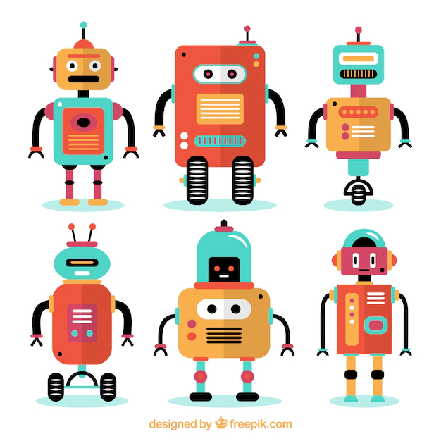 Flat robots collection - Nohat