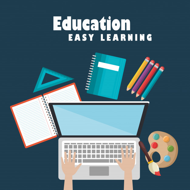 Laptop With Education Easy E Learning Icons Free Vector Nohat