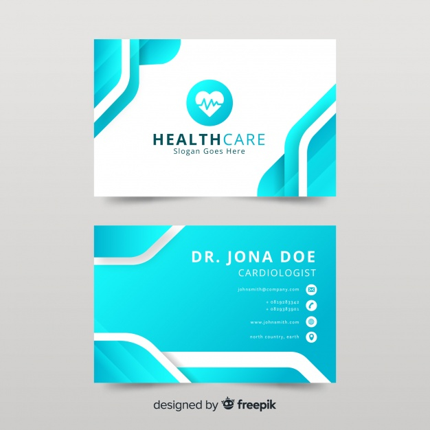 Business Card With Medical Concept In Professional Style Nohat